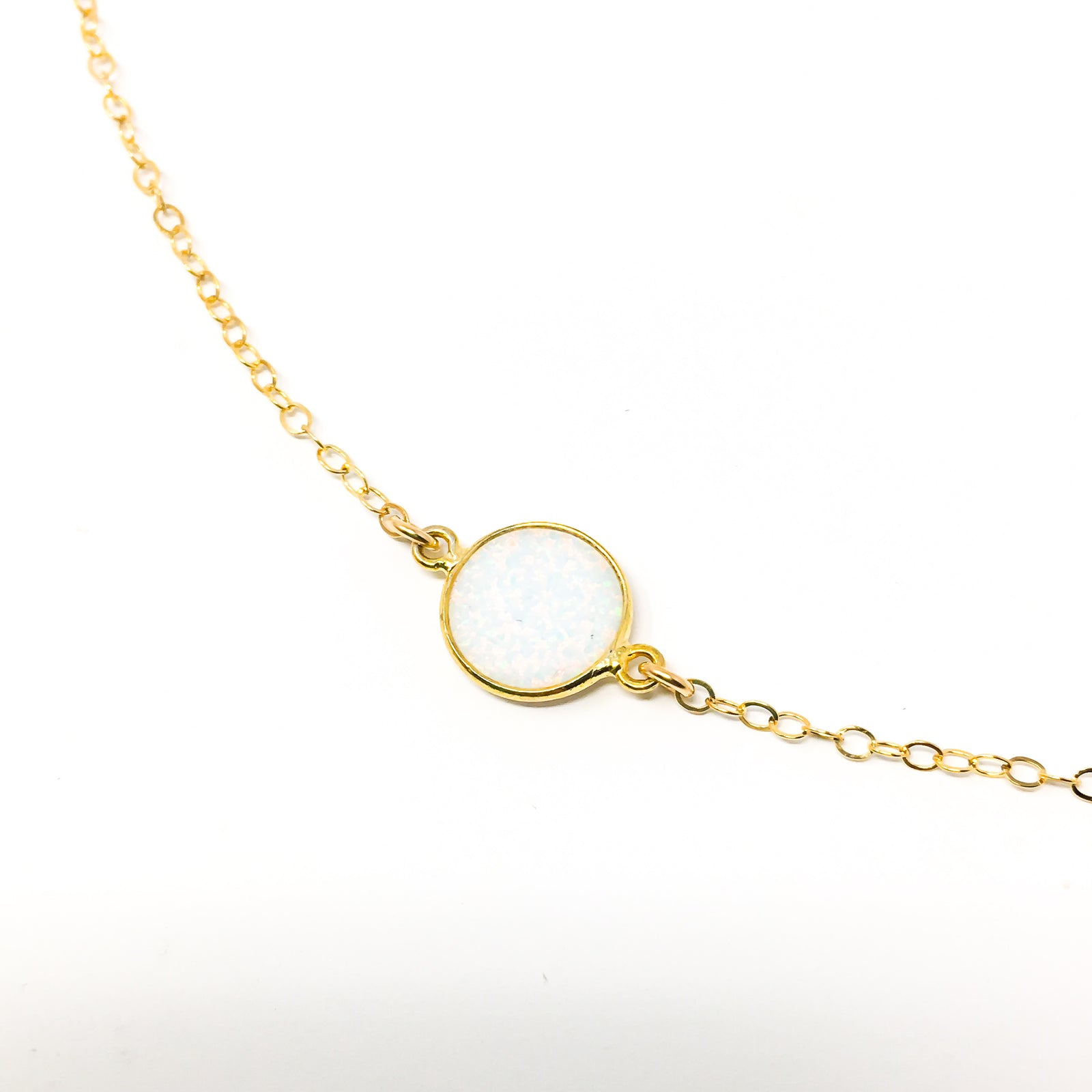 14K GOLD-FILLED HELD NECKLACES | LAB OPAL | SIZE OPTIONS
