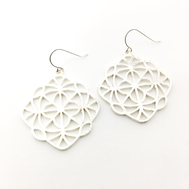 BRUSHED KALEIDOSCOPE EARRINGS | STERLING SILVER