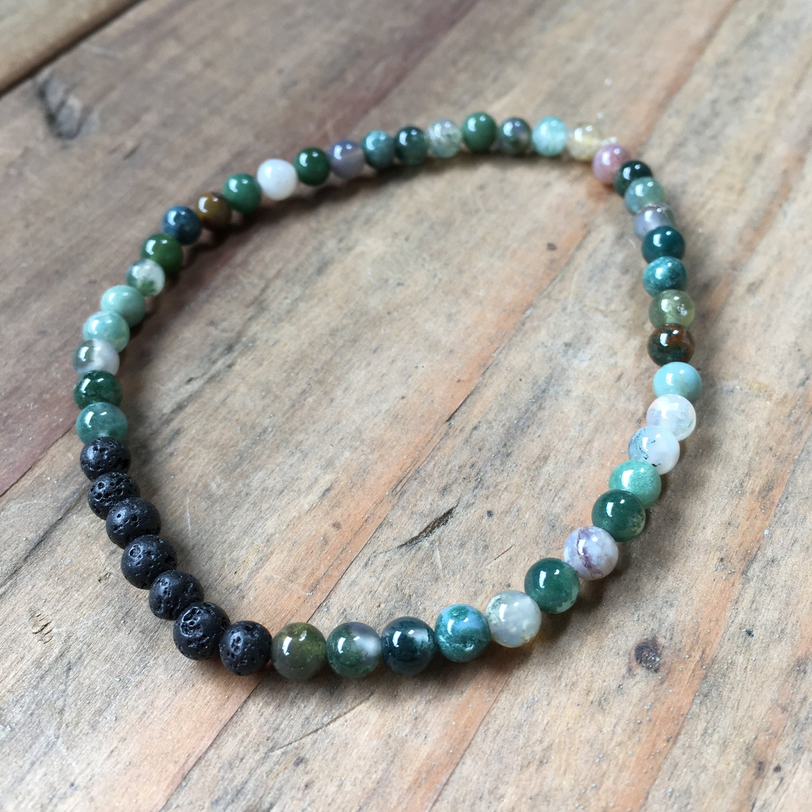 MENS FANCY JASPER BRACELET | 4MM | LAVA DIFFUSER