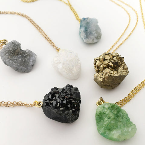 HALO STONE NECKLACES | COLOR OPTIONS