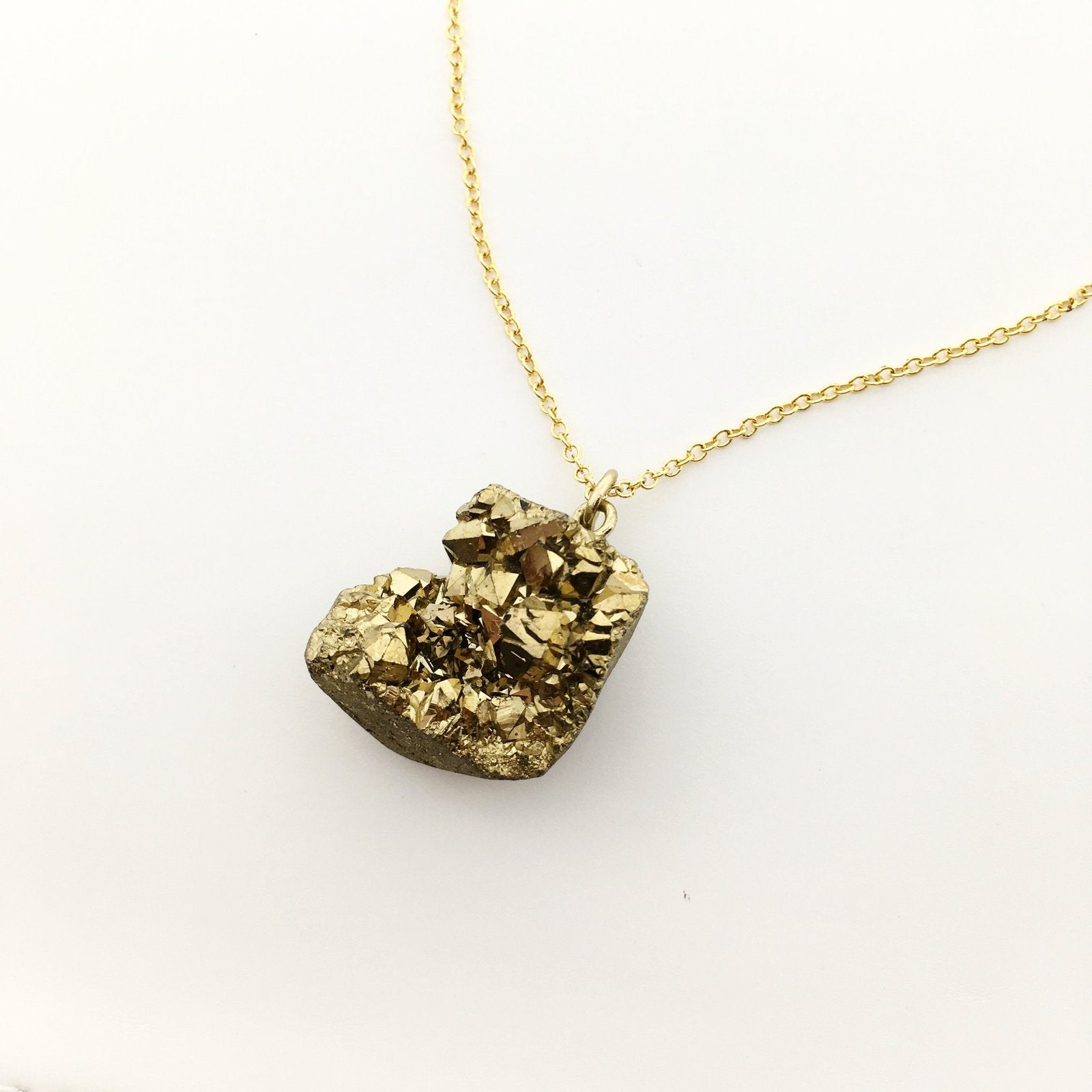 DRUZY NUGGET NECKLACES | GOLD | 18""