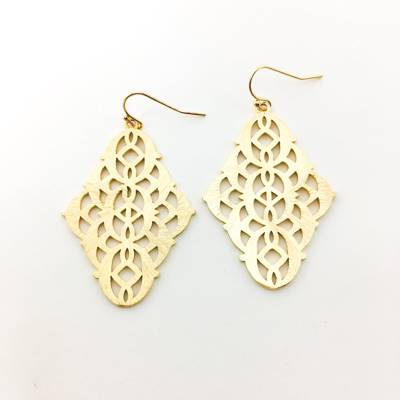 BRUSHED PATTERNED INDIAN EARRINGS | 14K GOLD-FILLED