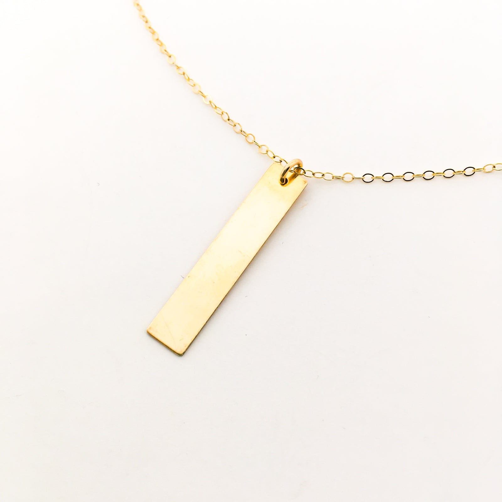14K GOLD-FILLED LONG WIDE BAR NECKLACE | SIZE OPTIONS