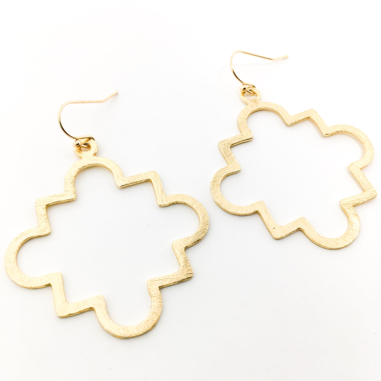 BRUSHED MILAN EARRINGS | 14K GOLD-FILLED