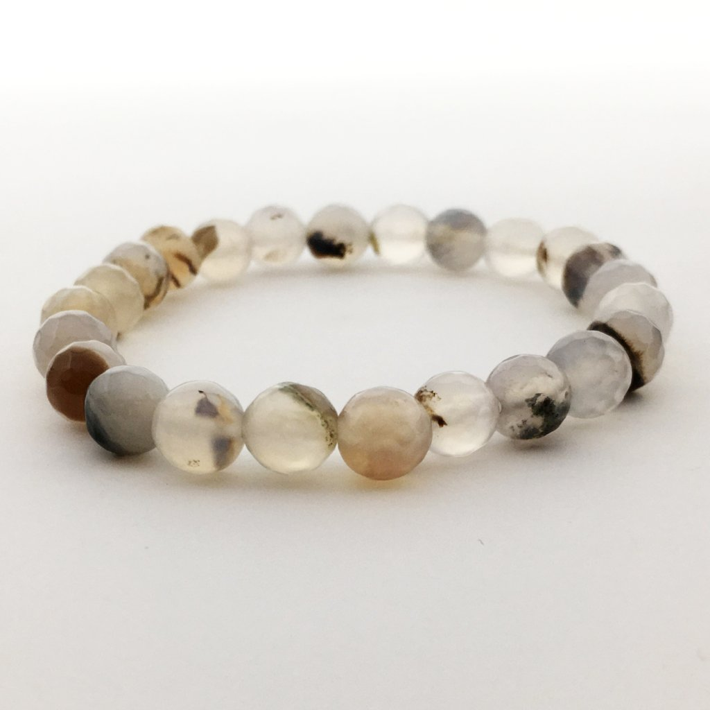 FACETED STONE BRACELETS | 8MM | COLOR OPTIONS