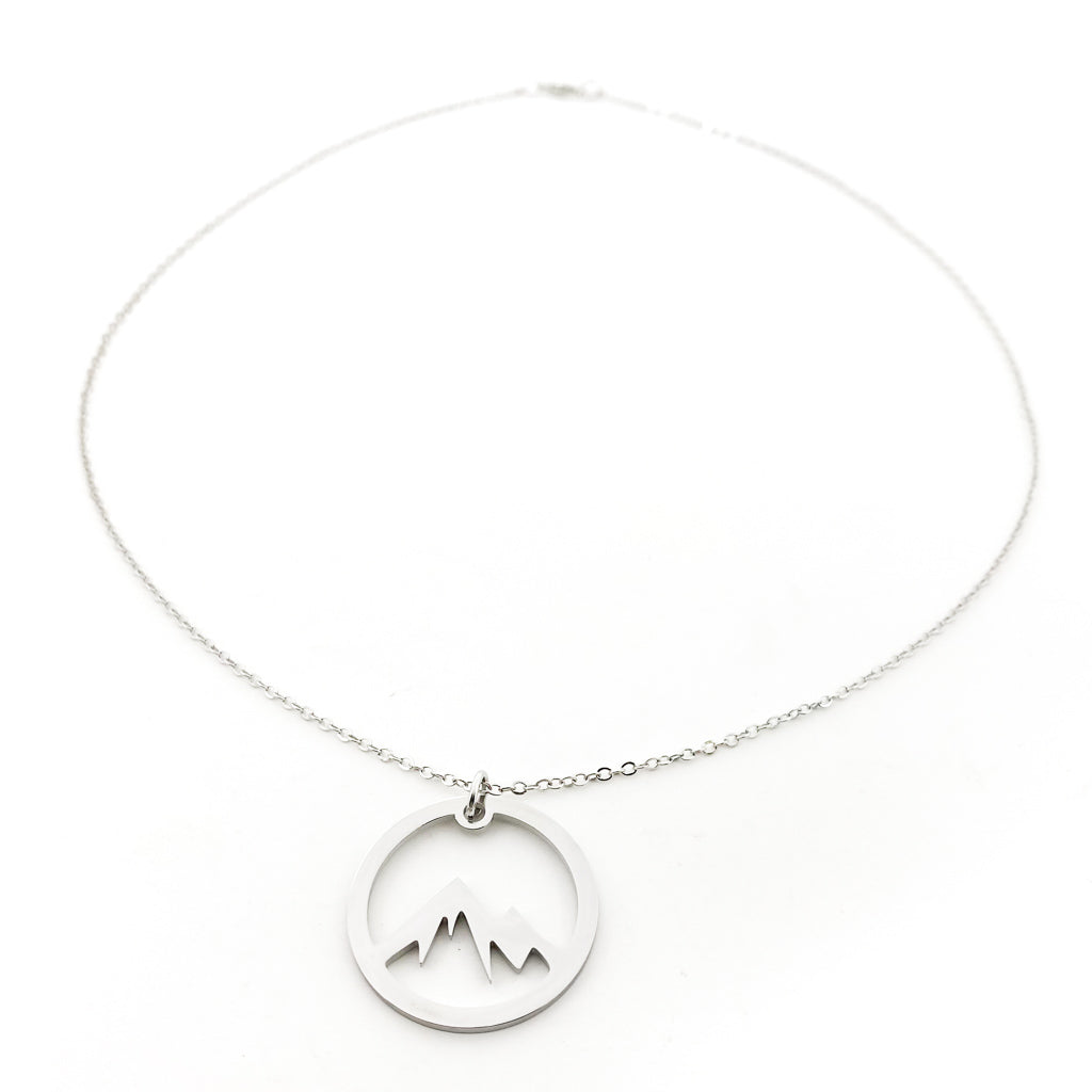 CIRCLE MOUNTAIN NECKLACE | LARGE | SILVER
