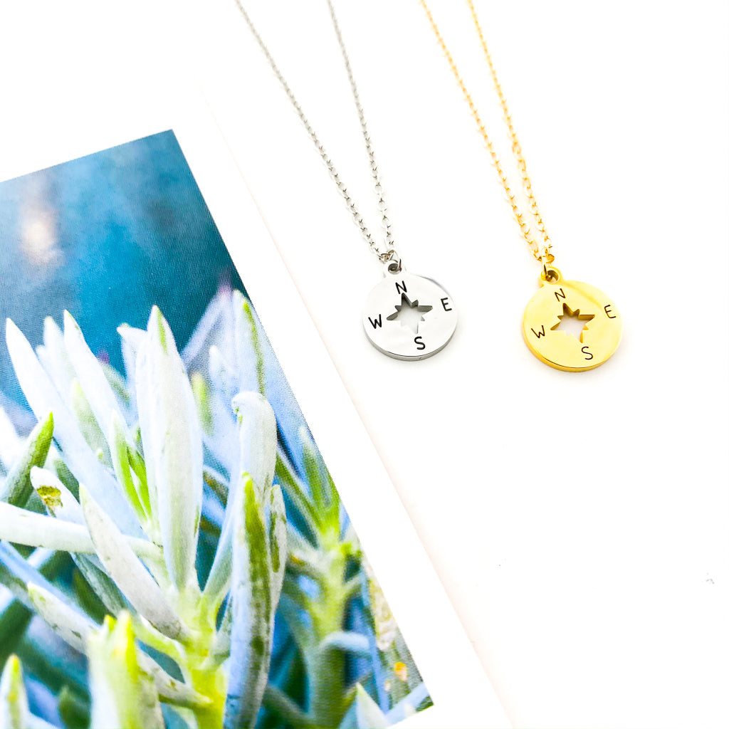 FOLLOW YOUR COMPASS NECKLACE | STYLE OPTIONS