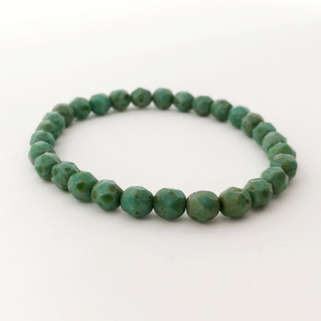 GREEN FACETED BRACELET | 6MM