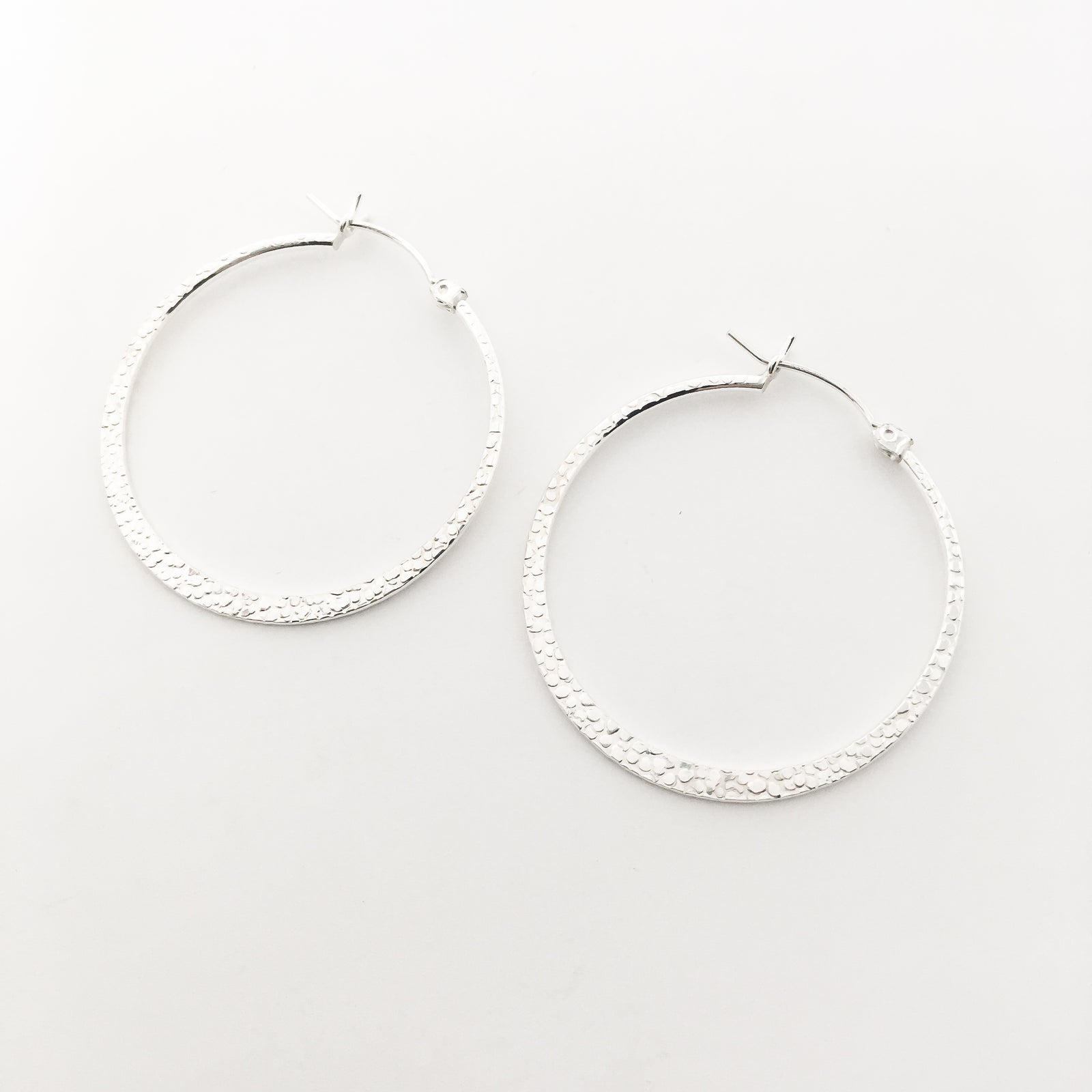 TEXTURED HOOPS | STERLING SILVER