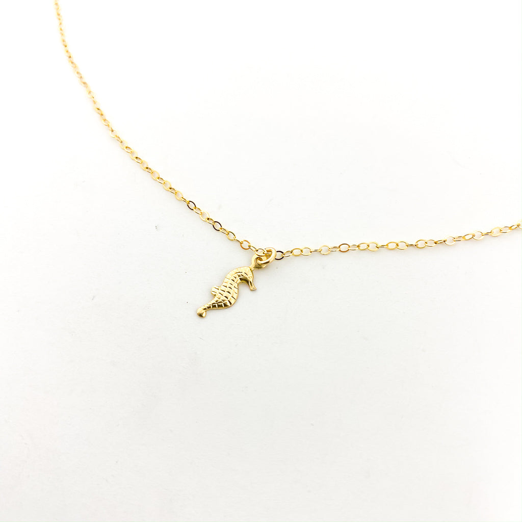 SEAHORSE NECKLACE | 14K GOLD-FILLED