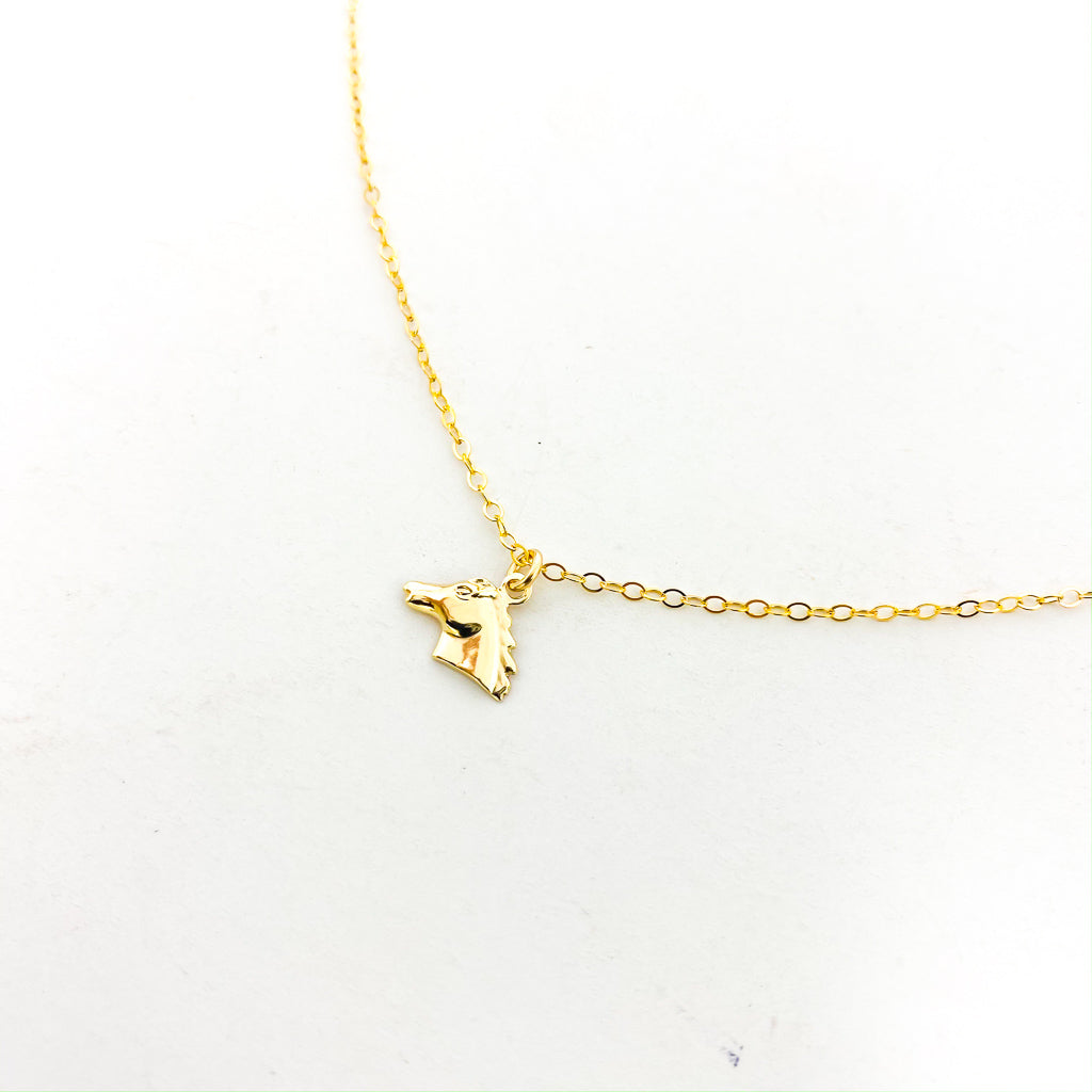14K GOLD-FILLED HORSE NECKLACE