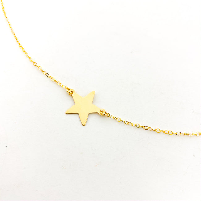 LARGE HELD STAR NECKLACE | 14K GOLD-FILLED