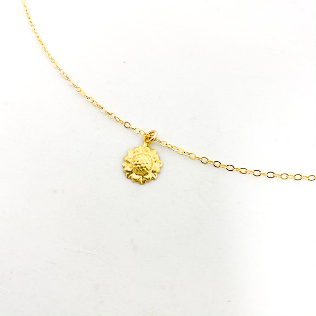 SUNFLOWER NECKLACE | 14K GOLD-FILLED