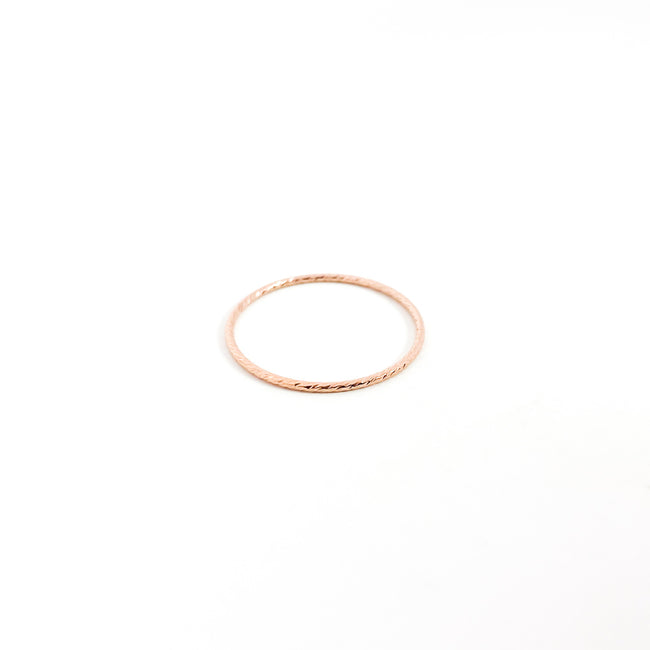 14K ROSE GOLD-FILLED TWISTED STACKING RINGS | SIZE OPTIONS