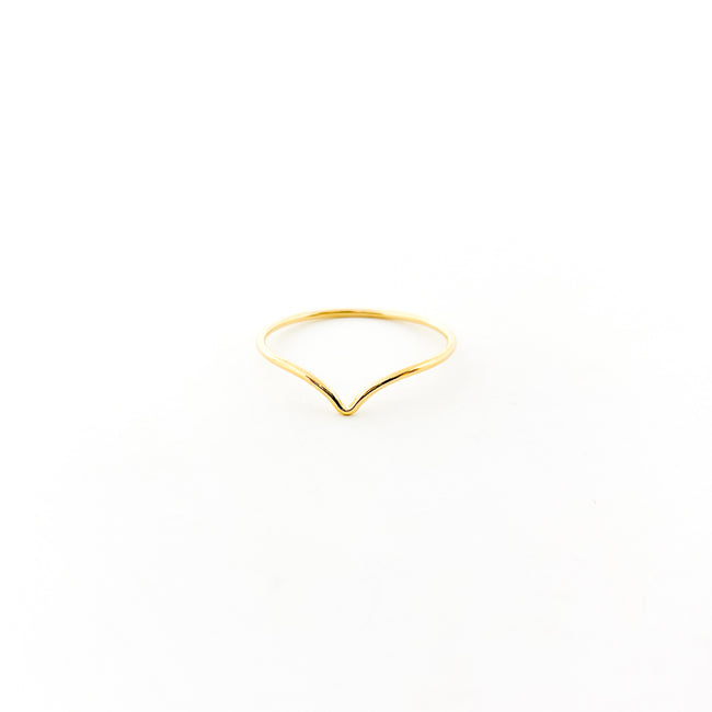 SMALL V-SHAPE RING | 14K GOLD-FILLED