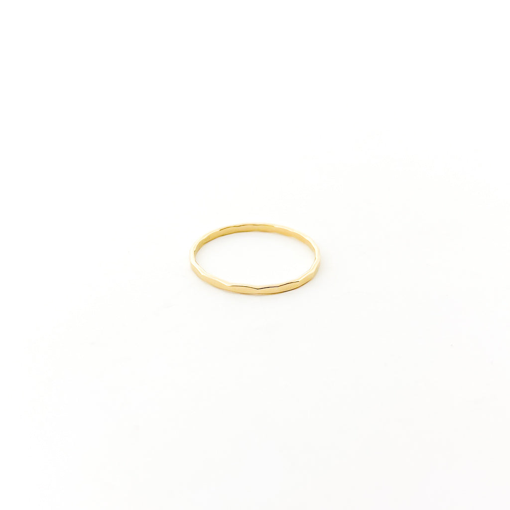 14K GOLD-FILLED HAMMERED PATTERN STACKING RINGS | SIZE OPTIONS