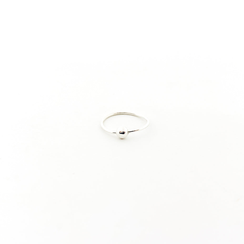 NOSE RING WITH 3MM BALL | STERLING SILVER
