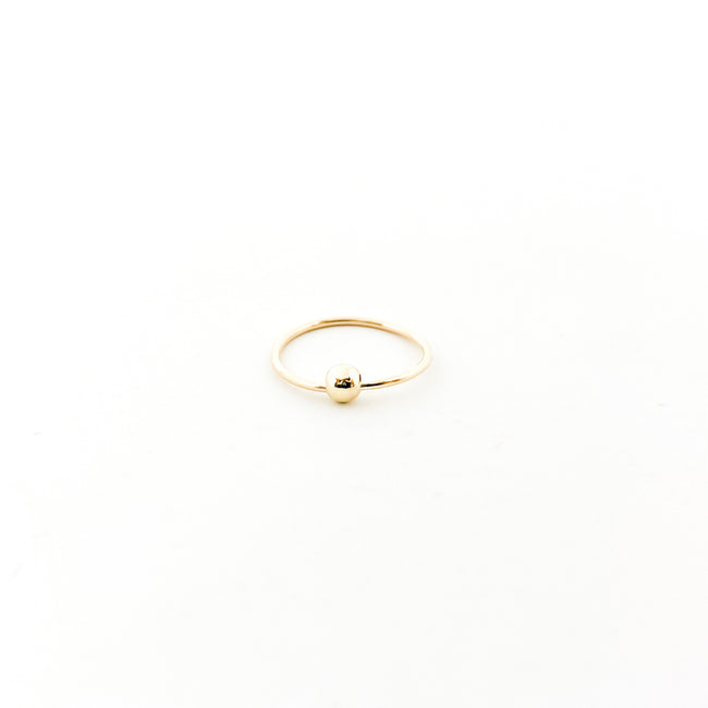 NOSE RING WITH 3MM BALL | 14K GOLD-FILLED