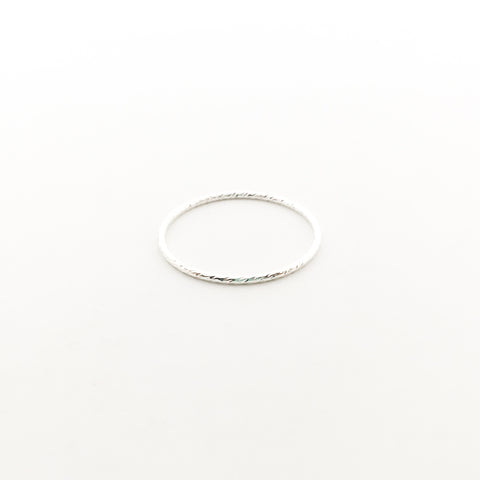 STERLING SILVER CUBIC ZIRCONIA STACKING RINGS | SIZE OPTIONS