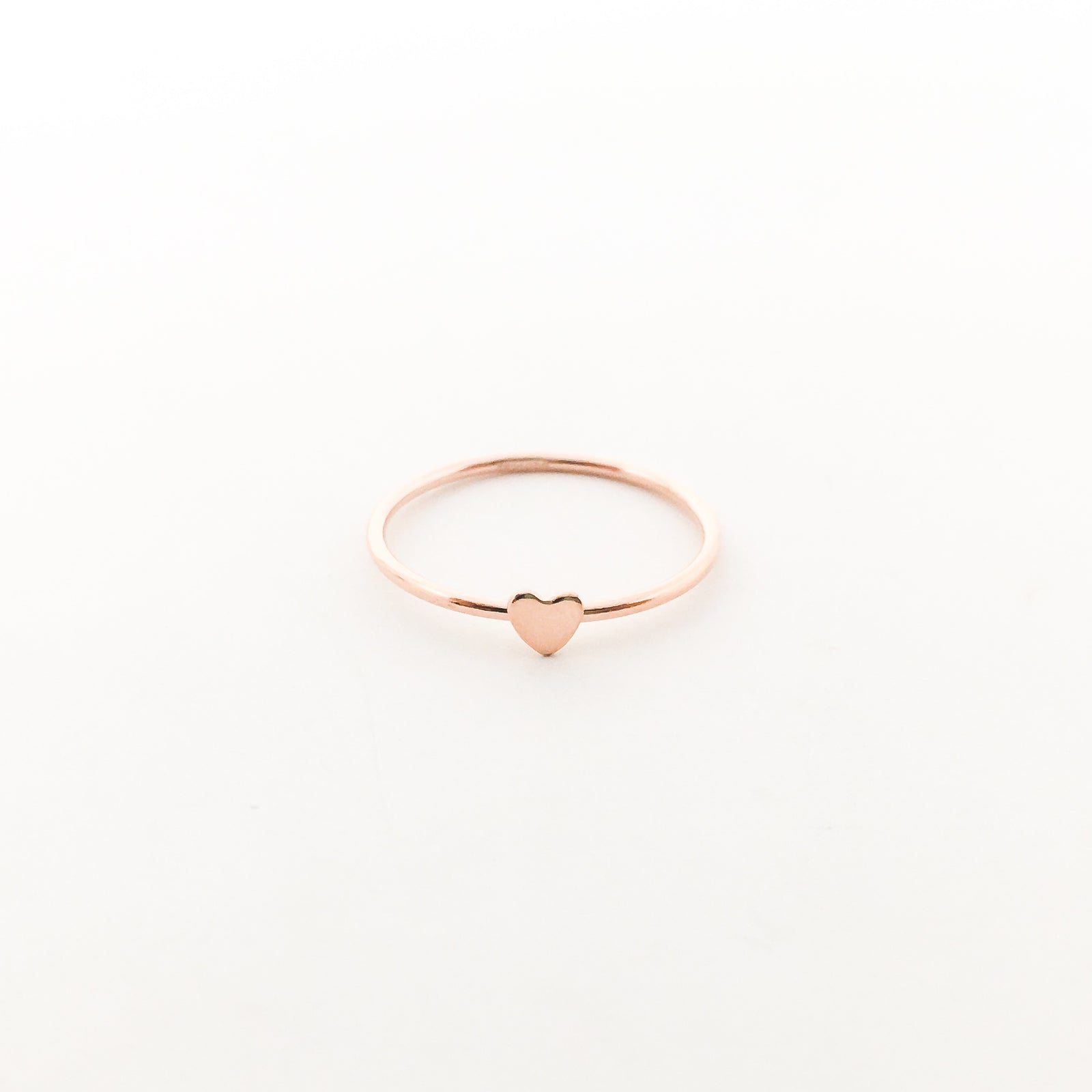 14K ROSE GOLD-FILLED HEART STACKING RINGS | SIZE OPTIONS