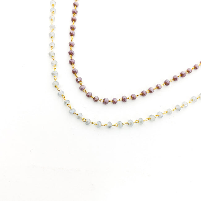 BEADED GEM & GOLD ANKLETS | STYLE OPTIONS | 14K GOLD-FILLED