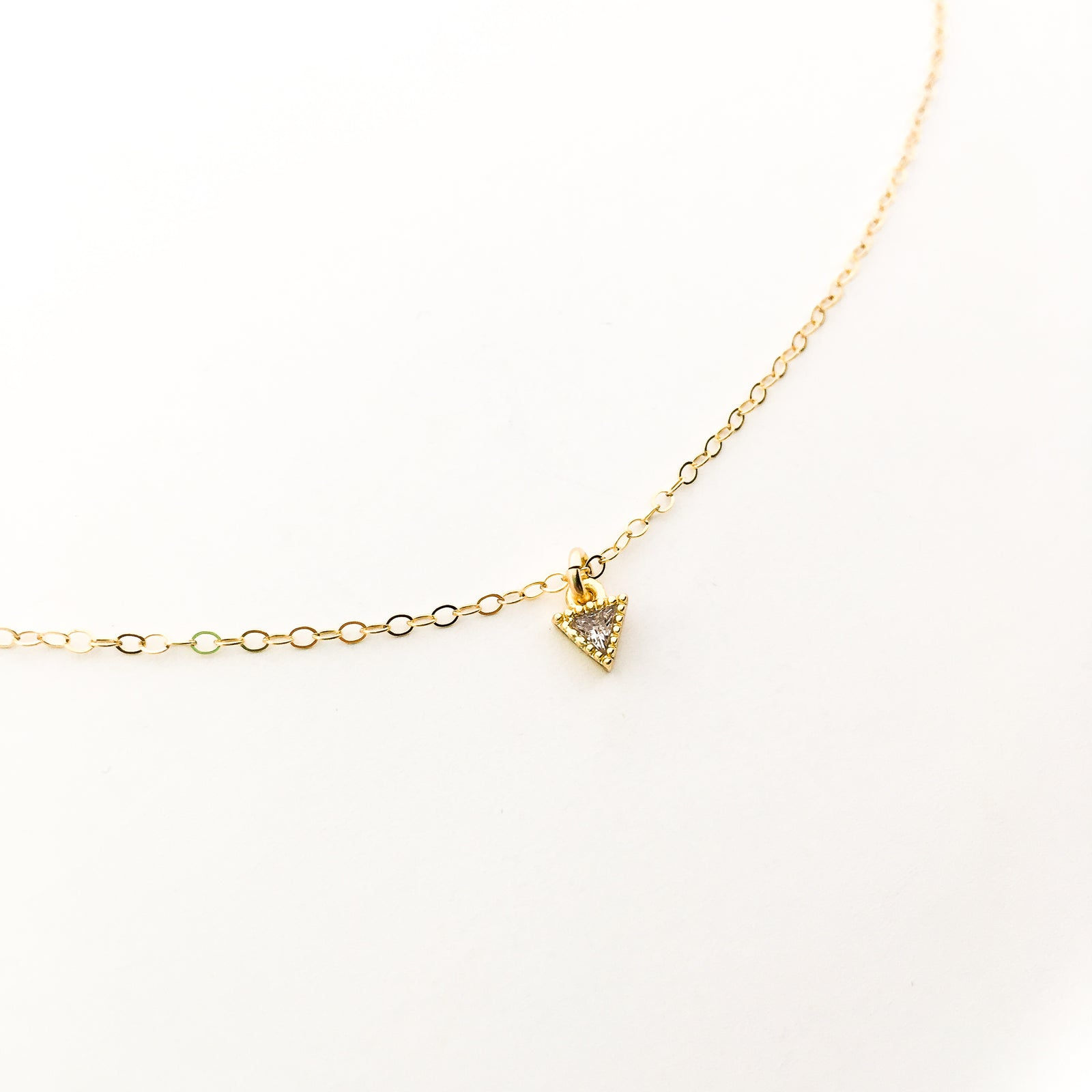 MINI RHINESTONE ARROWTIP NECKLACE | 14K GOLD-FILLED