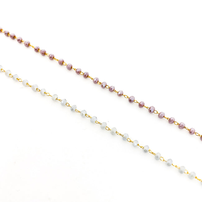 BEADED GEM & GOLD CHAIN NECKLACES | STYLE OPTIONS | 14K GOLD-FILLED