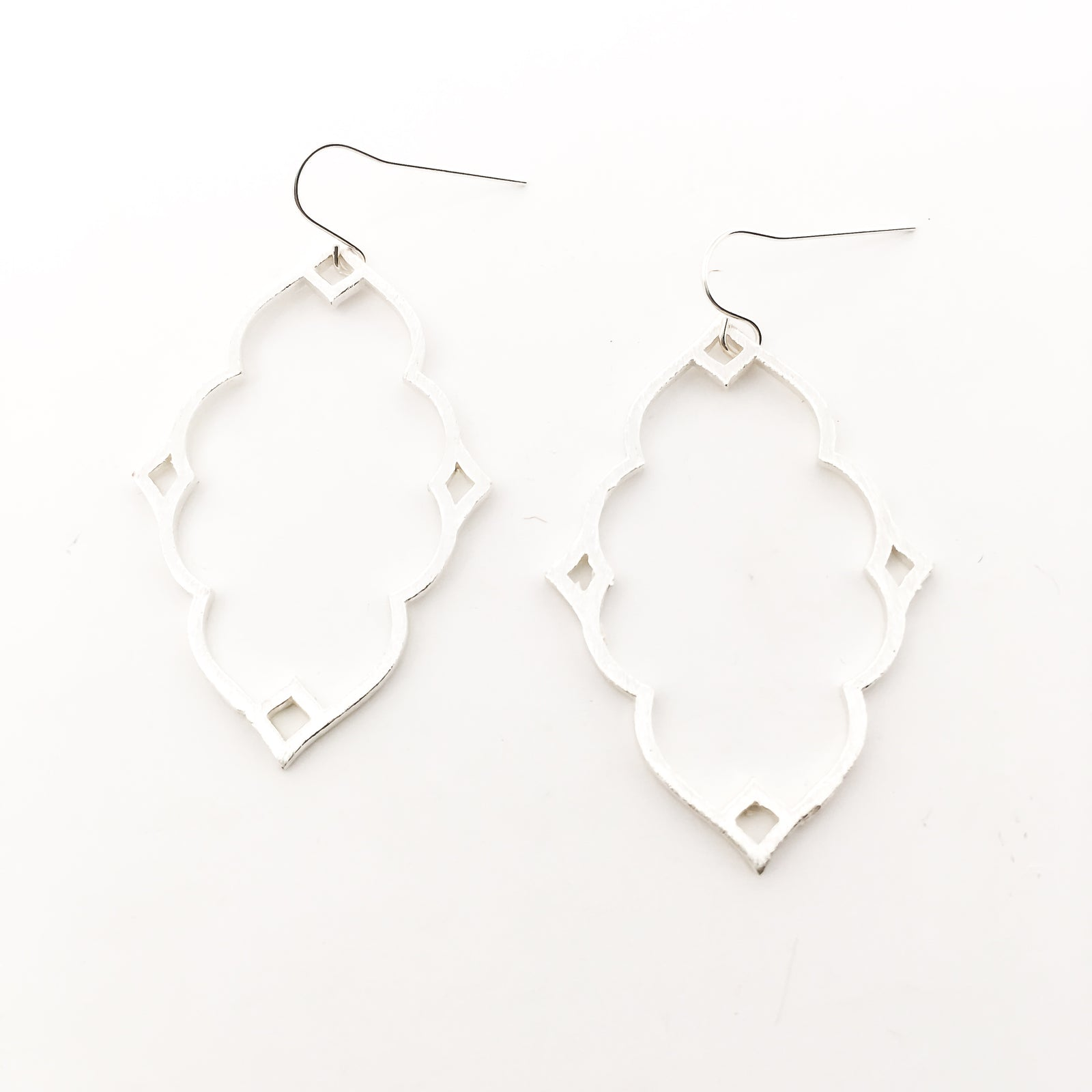 BRUSHED INDIAN EARRINGS | STERLING SILVER