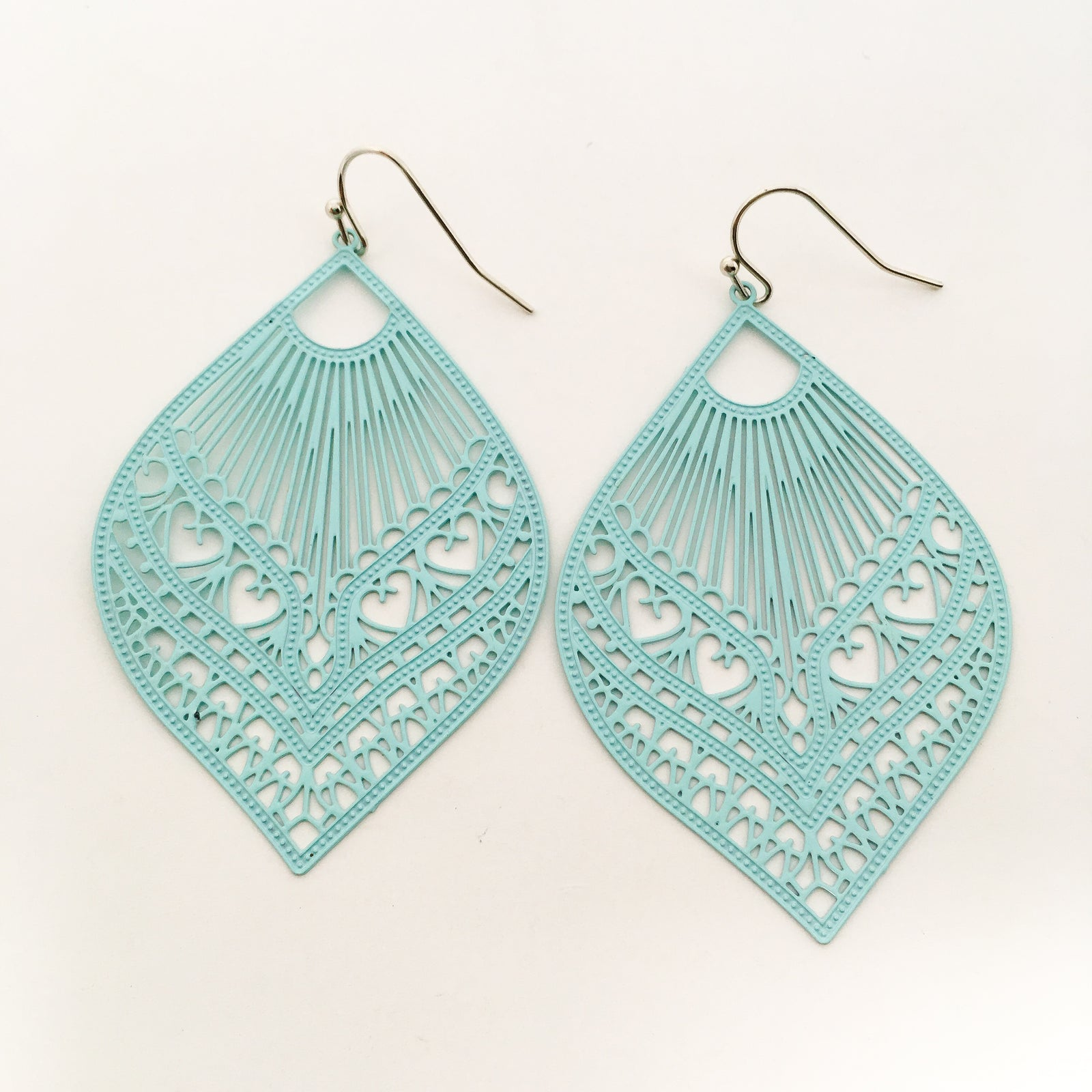 FEATHERED DROP FILIGREE EARRINGS | COLOR OPTIONS