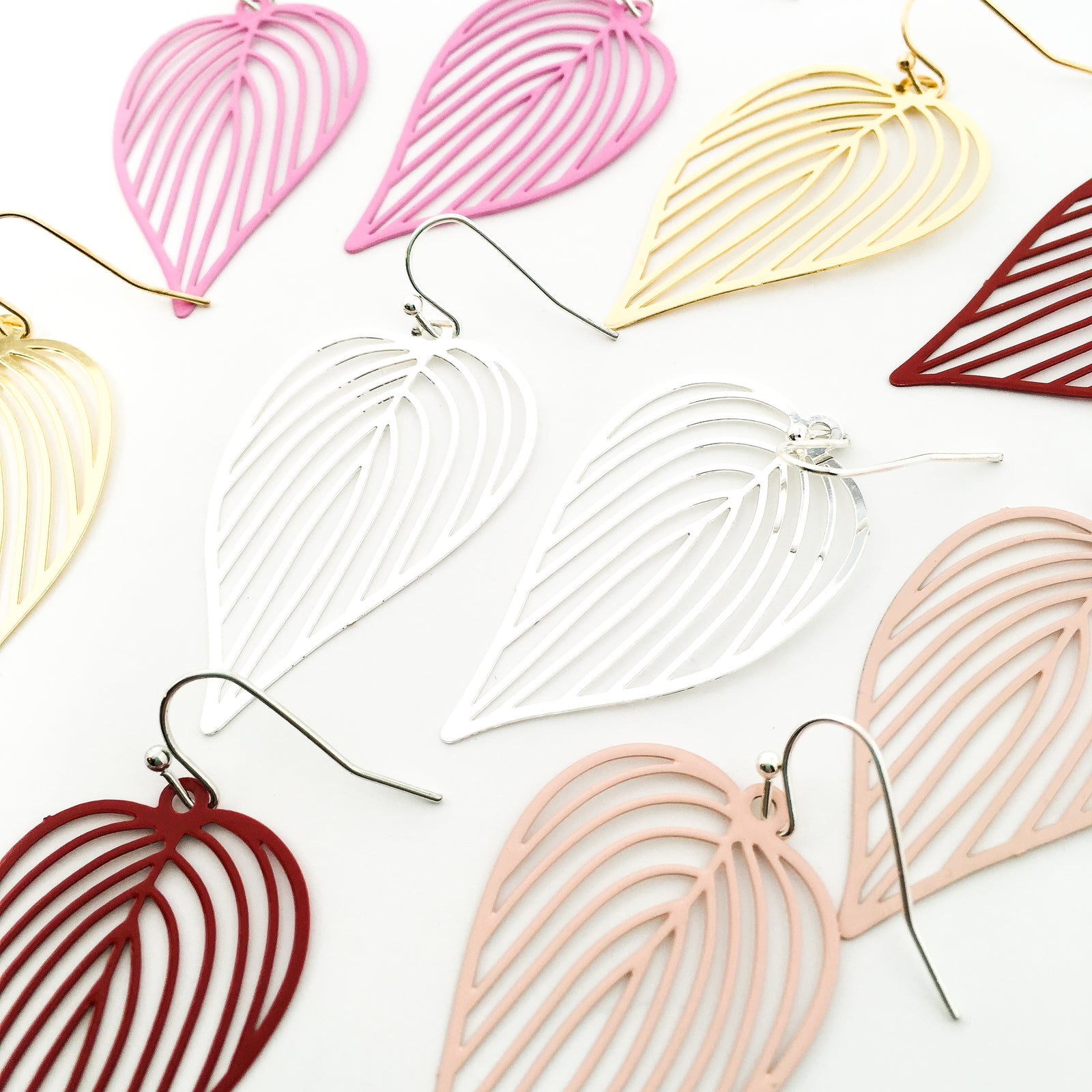 FILIGREE LOVE LEAF EARRINGS | COLOR OPTIONS