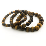 TIGER'S EYE BRACELETS | MATTE | SIZE OPTIONS