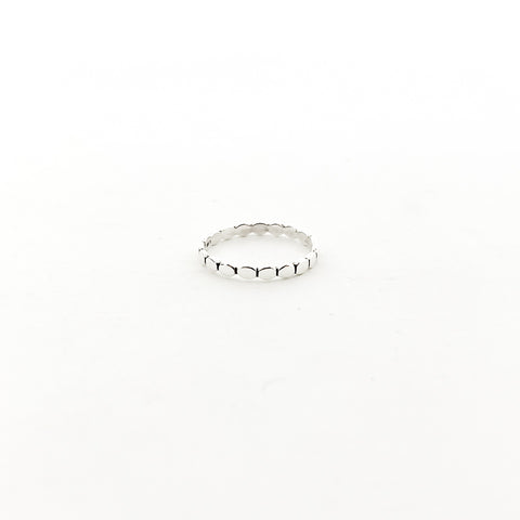 UNIQUE EDGE RING | STERLING SILVER | SIZE OPTIONS