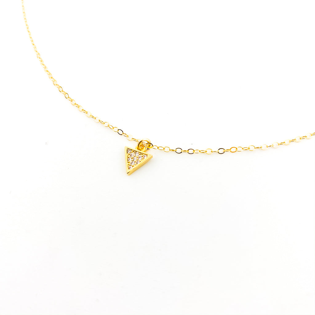 HANGING TRIANGLE NECKLACE | 14K GOLD-FILLED