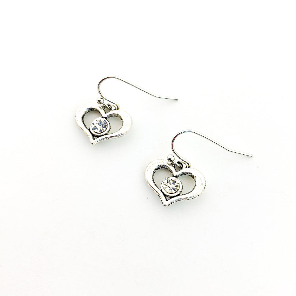 SILVER LITTLE LOVE EARRINGS