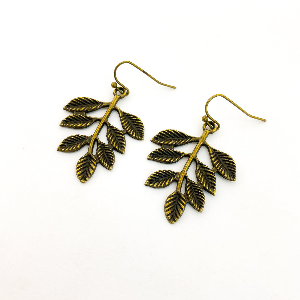 HONEYLOCUST LEAF EARRINGS