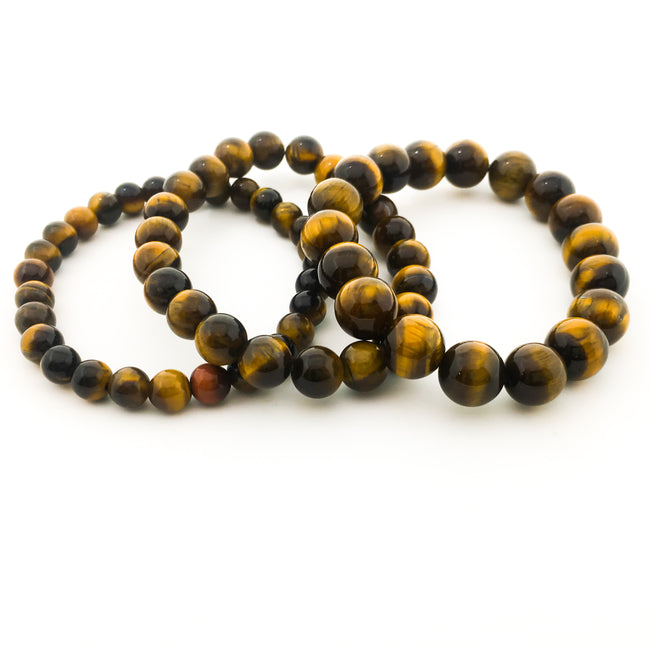 YELLOW TIGERS EYE BRACELETS | SIZE OPTIONS