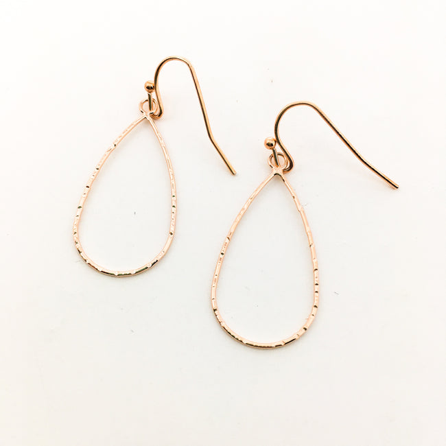 TWISTED ROUND DROP EARRINGS | ROSE GOLD