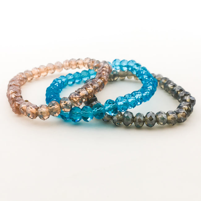 KIDS CRYSTAL BRACELETS | 6MM | CLEAR COLOR OPTIONS