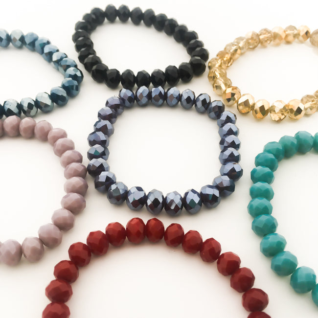 CRYSTAL BRACELETS | 8MM | COLOR OPTIONS