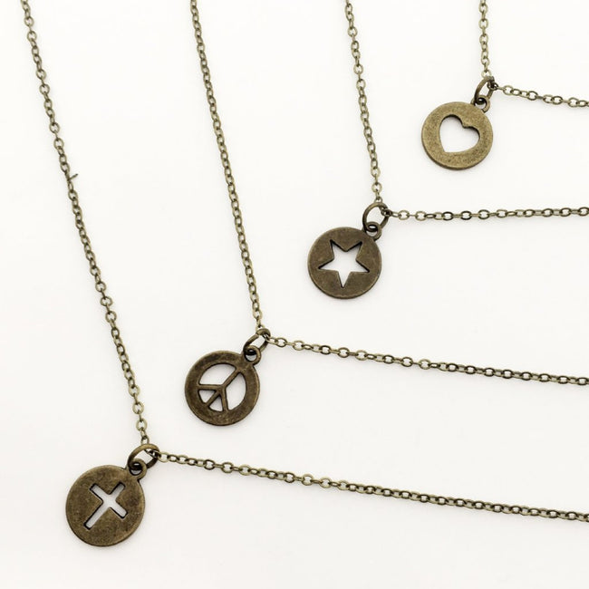 KIDS PENDANT NECKLACES | BRONZE