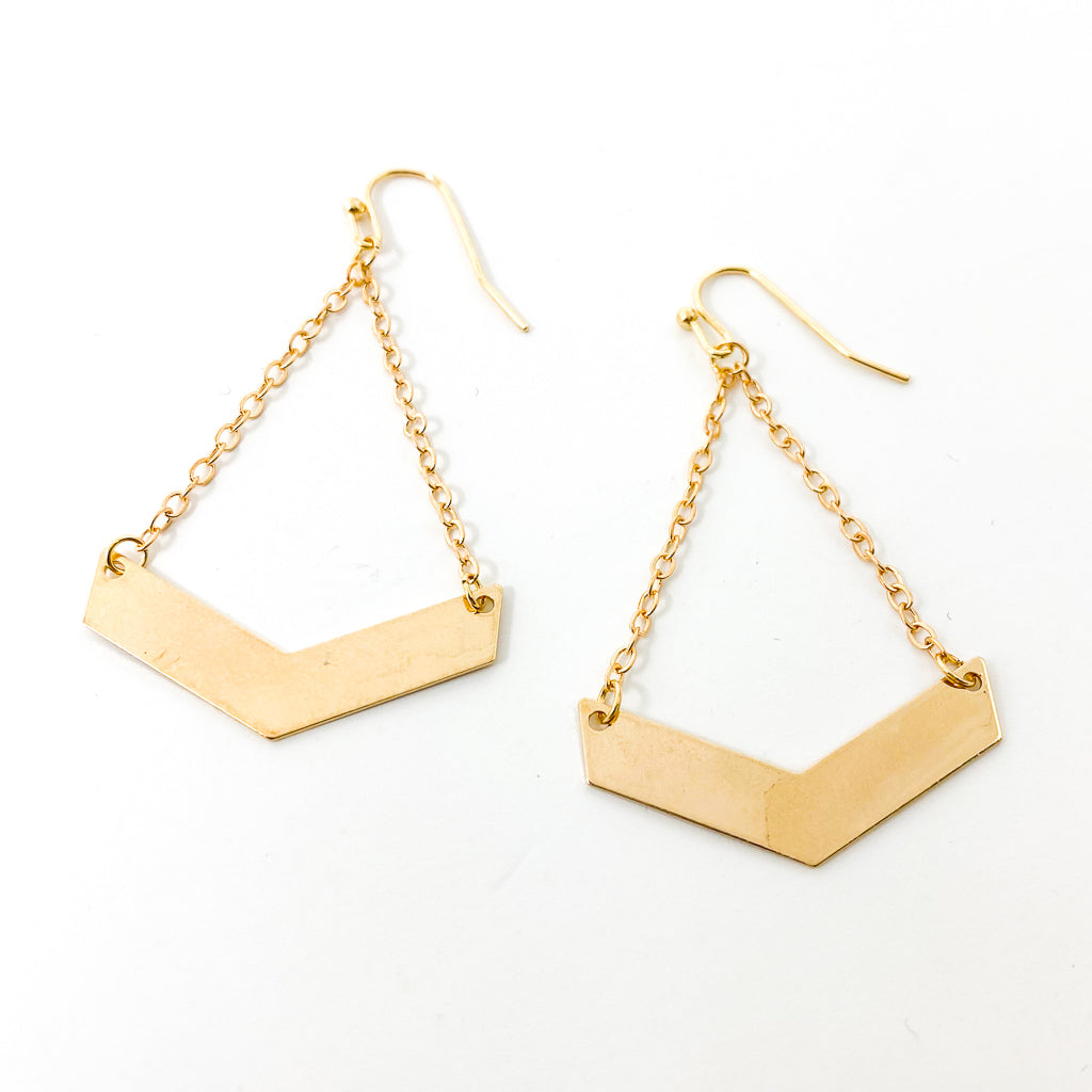 HANGING CHEVRON EARRINGS | STYLE OPTIONS