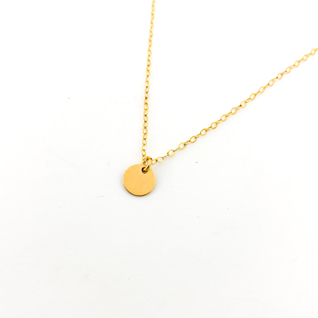 14K GOLD-FILLED OPEN DISK NECKLACES | SIZE OPTIONS