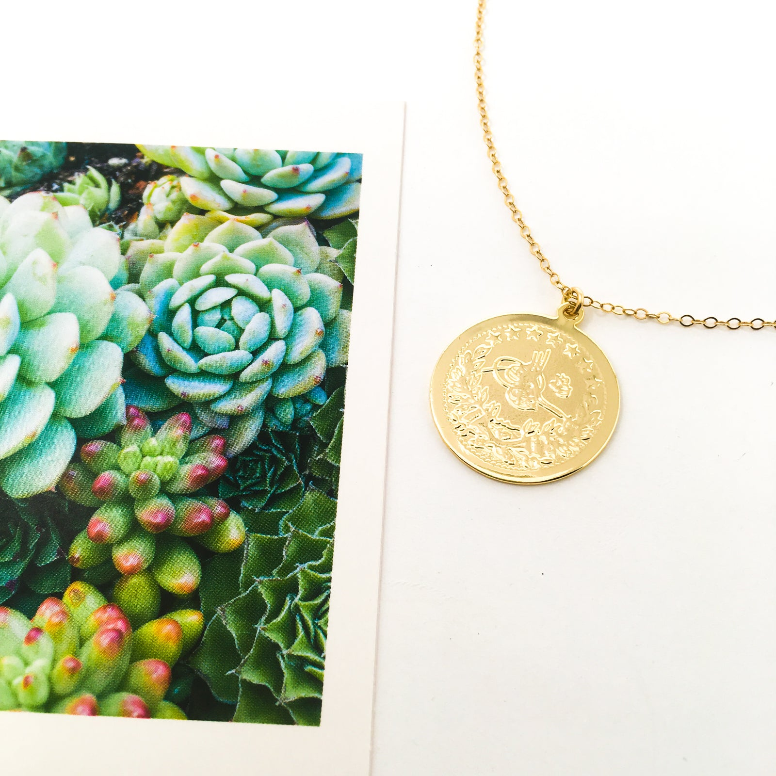 DOUBLE-SIDED COIN NECKLACES | 14K GOLD-FILLED
