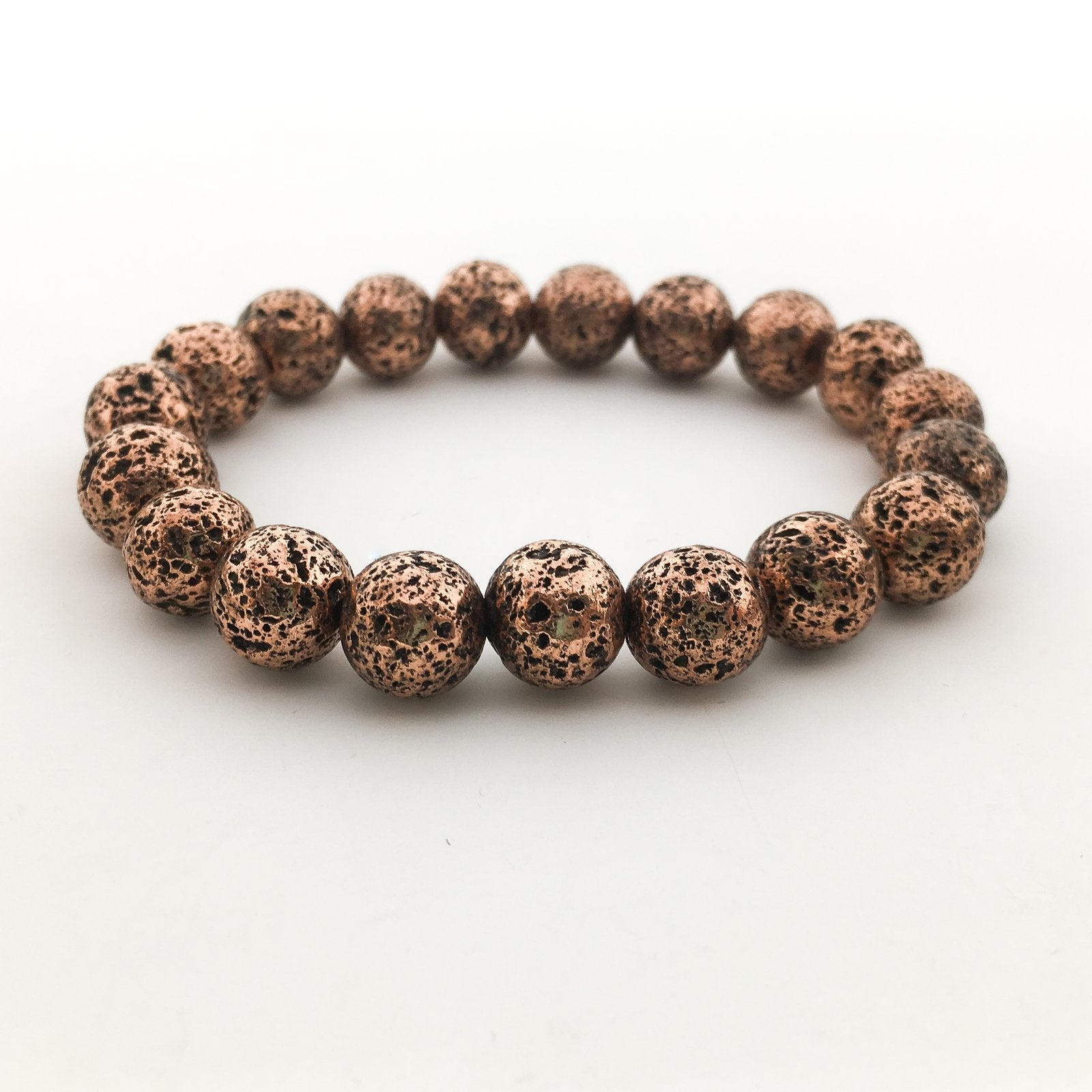 ELECTROPLATED LAVA BEAD BRACELETS | 8MM | COLOR OPTIONS