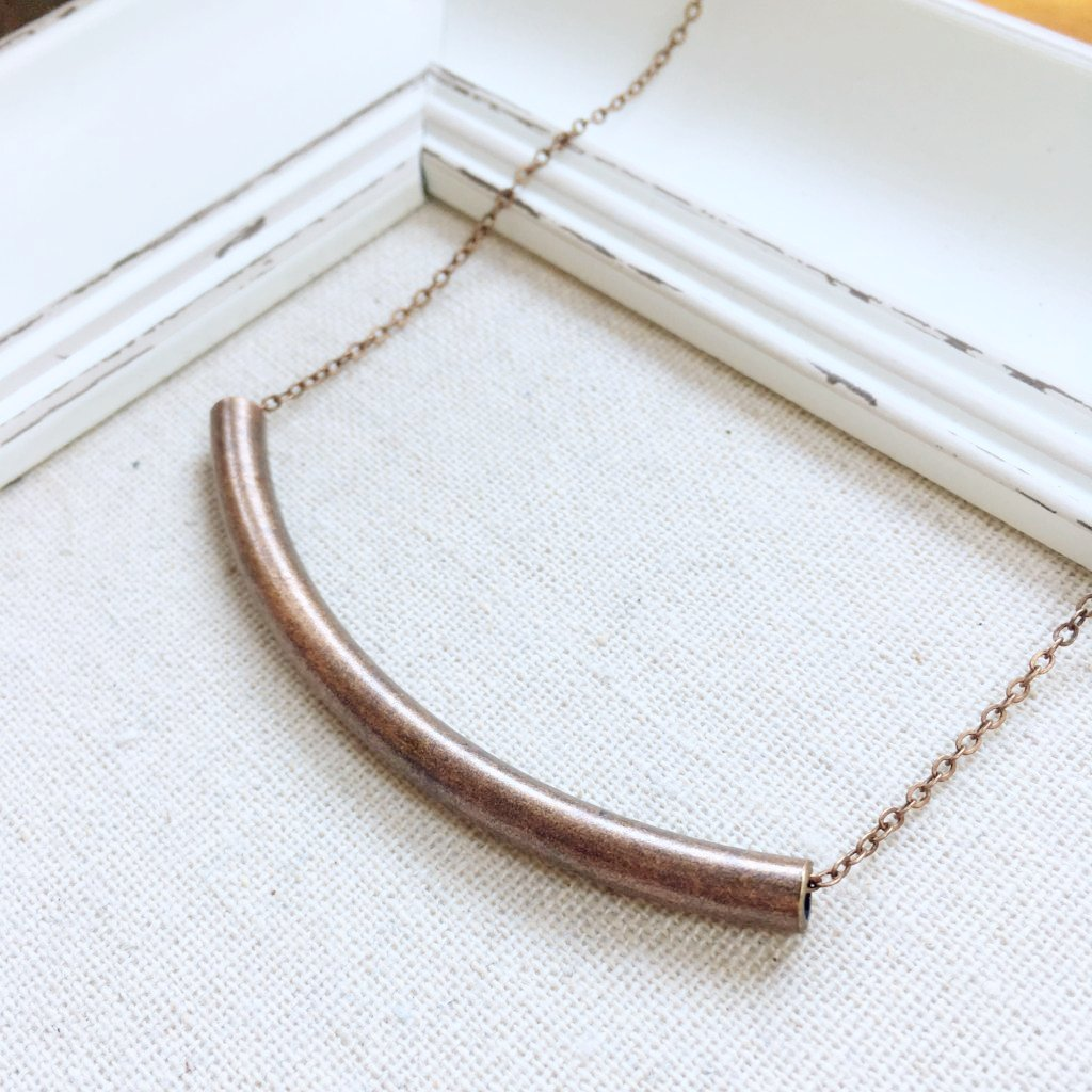 FH COPPER CURVED TUBE NECKLACE