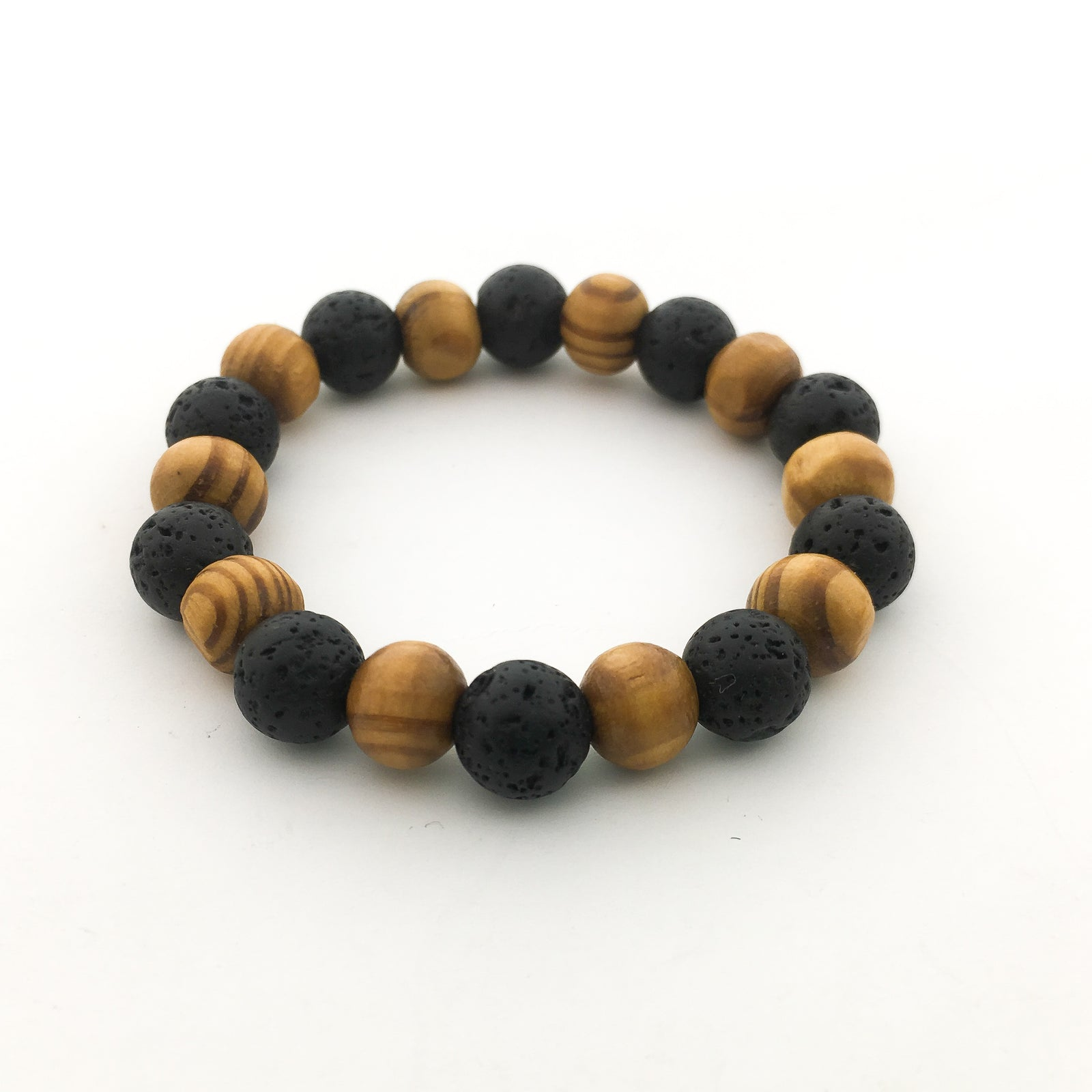 SINGLE PATTERN LAVA & WOOD DIFFUSER BRACELET | KIDS