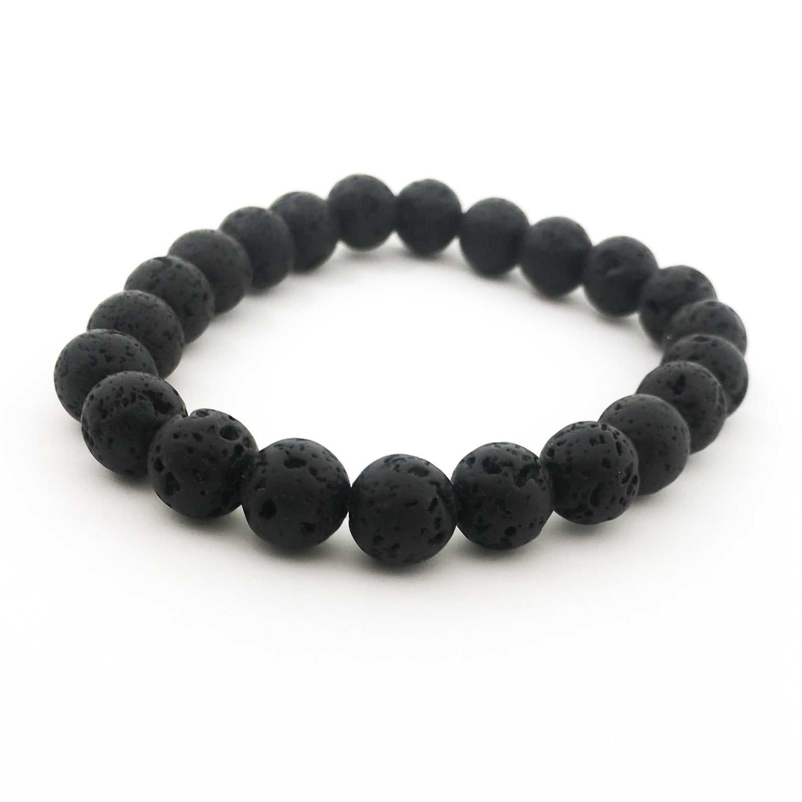 MENS LAVA ROCK BRACELETS | SIZE OPTIONS