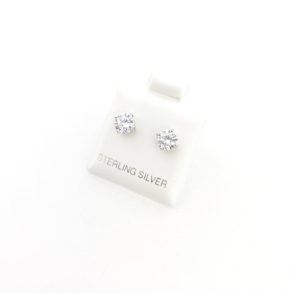 STERLING SILVER CRYSTAL STUDS | SIZE OPTIONS