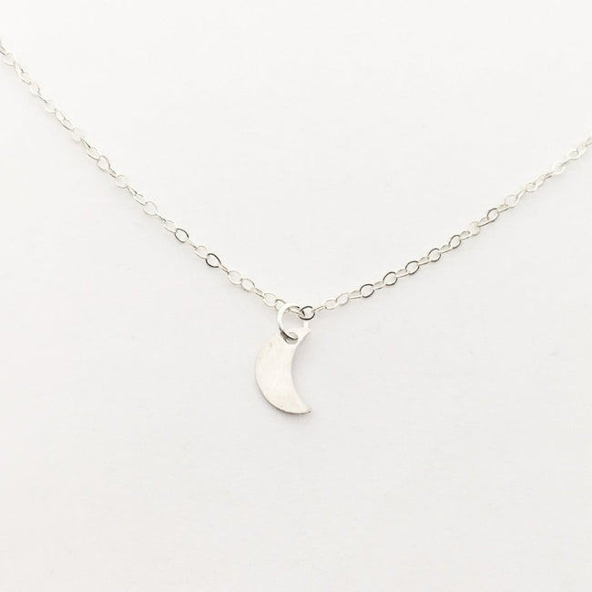 STERLING SILVER MOON NECKLACE