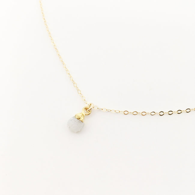 MINI QUARTZ DRUZY NECKLACE | 14K GOLD-FILLED
